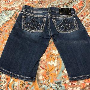 Miss Me Bermuda Bling Shorts size 27
